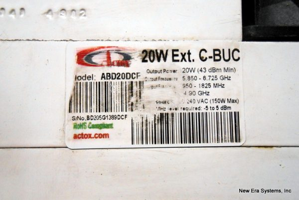 Actox 20 Watt C-Band BUC Model ABD20DCF