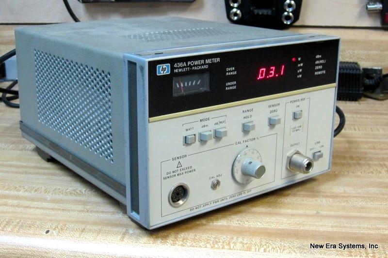 hp 436a power meter without sensor new era systems rh newerasystems net Agilent 436A Power Meter 435 HP