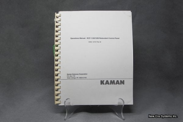 Kaman Sciences Redundant Control Panel Manual