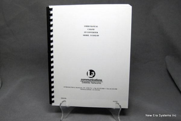 L3 UC6M2-D5 C-Band Up Converter User Manual