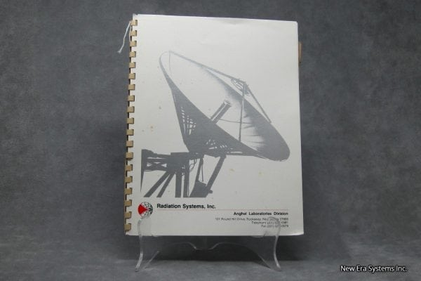 Radiation System Inc. 3600 Convertor Protection Switch Manual