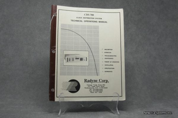 Radyne Corp CDS-780 Manual