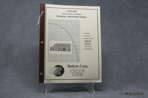 Radyne Corp DMD-4500 Modem Manual