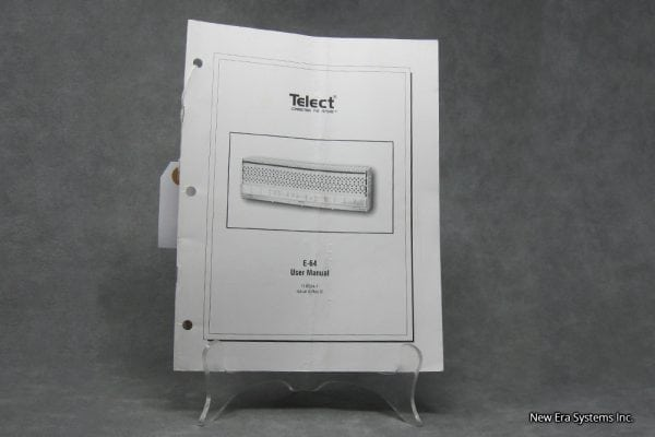 Telect E-64 Panel User Manual