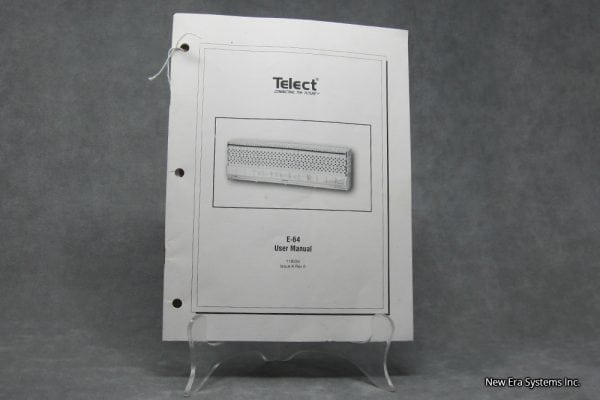 Telect E-64 User Manual