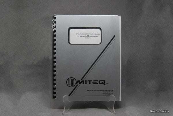 Miteq Redundant Switchover Unit Operation and Maintenance Manual