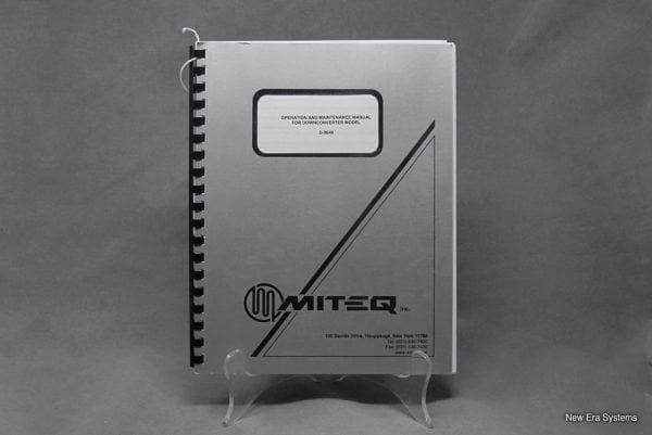 Miteq D-9649 Downconverter Operation and Maintenance Manual