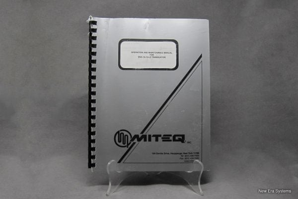 Miteq Frequency Translator Operation and Maintenance Manual