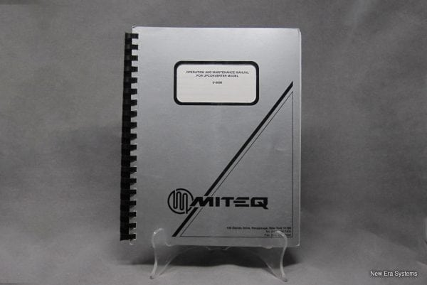 Miteq U-9696 Upconverter Operation and Maintenance Manual