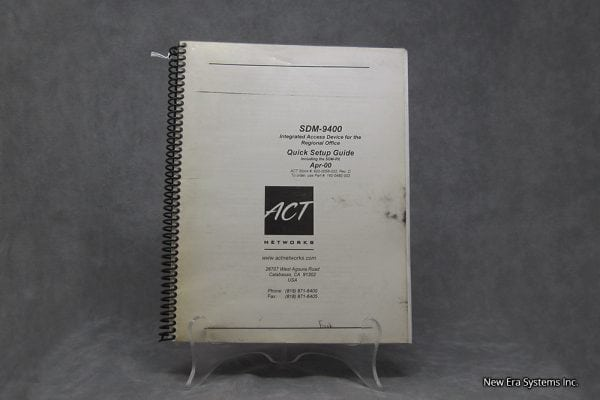 Act Networks SDM-9400 Manual