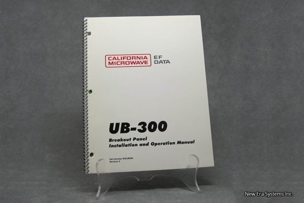 UB-300 Breakout Panel Manual