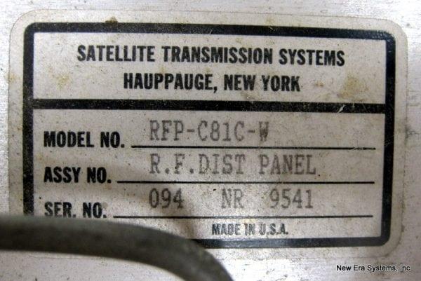 STS 8 Port RF Distribution Panel