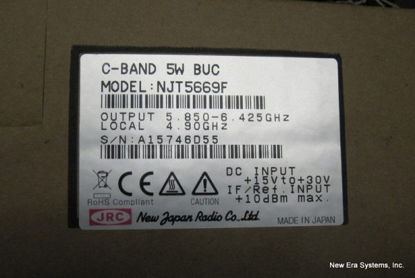 NJT5669F 5 Watt C-band BUC