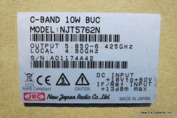 New Japan Radio 10 Watt C-Band BUC